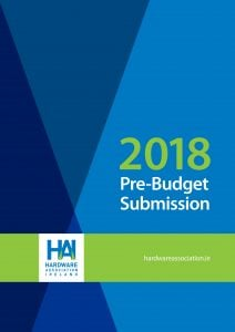 HAI 2018 BUDGET SUBMISSION COVER